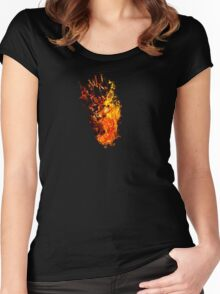 I Will Burn You - Text Edition Women's Fitted Scoop T-Shirt