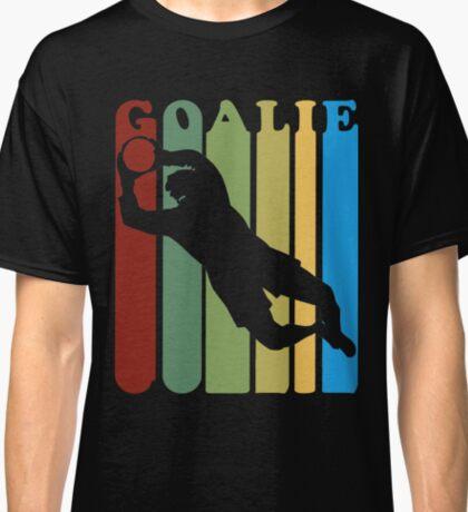 Retro 1970s Style Soccer Goalie Silhouette T-Shirt Goalie Soccer Sport  Classic T-Shirt