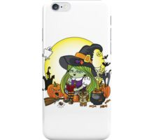 Halloween Witch girl reading book iPhone Case/Skin