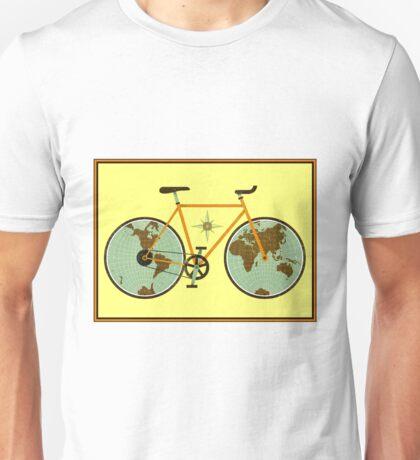 BICYCLE; World Atlas Map Print Unisex T-Shirt