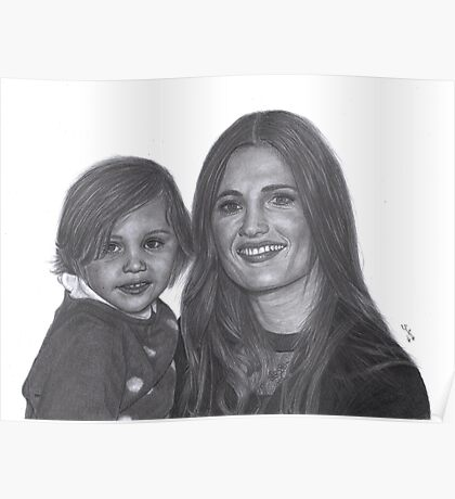 Stana Katic and her niece Sophia Poster