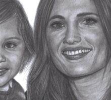 Stana Katic and her niece Sophia Sticker