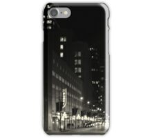 black and white cityscape iPhone Case/Skin