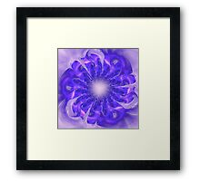 Mystical abstract background with bright pattern, stylized flower shining Framed Print