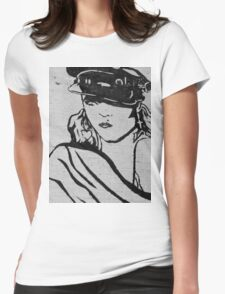 Rock Star Wall Womens Fitted T-Shirt