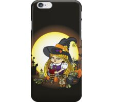 Halloween.Witch girl reading book iPhone Case/Skin
