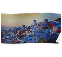 Morning Glory Oia In Santorini Greece Poster