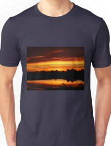 Sunset Over League City Texas Unisex T-Shirt