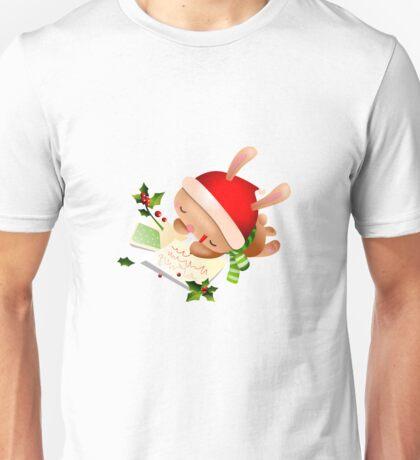Christmas Bunny Unisex T-Shirt