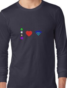 OS love Wifi full color Long Sleeve T-Shirt