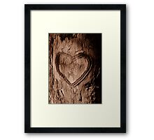 Tree Heart Framed Print