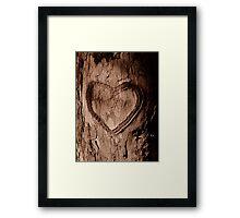 Tree Heart Framed Print