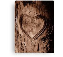 Tree Heart Canvas Print