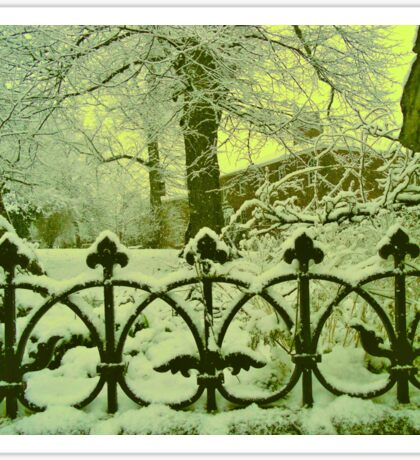 Church Railings in Snow Sticker