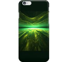 Fantastic abstract background with   multi-layered   pattern with shades of green iPhone Case/Skin