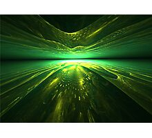 Fantastic abstract background with   multi-layered   pattern with shades of green Photographic Print