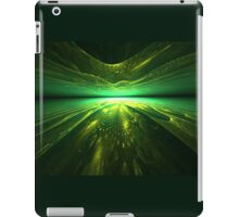 Fantastic abstract background with   multi-layered   pattern with shades of green iPad Case/Skin