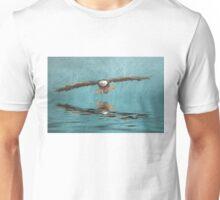 Bald Eagle on Misty Lake Unisex T-Shirt