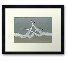 The Red Arrows - Opposition Barrel Roll - Eastbourne 2014 Framed Print