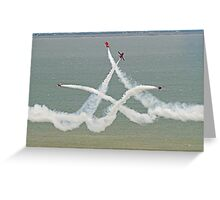 The Red Arrows - Opposition Barrel Roll - Eastbourne 2014 Greeting Card
