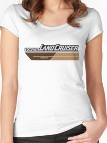 Land Cruiser body art series, brown two tone Women's Fitted Scoop T-Shirt