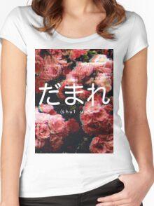 Damare (Shut Up) Women's Fitted Scoop T-Shirt