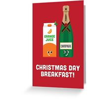 Christmas Character Building - Christmas Day Breakfast 1 Greeting Card