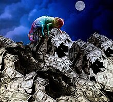 Moon rise over Willard's Mountain by Alex Preiss
