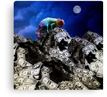 Moon rise over Willard's Mountain Canvas Print