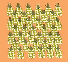 Funky Tropical Pineapple Collage  by duckpie
