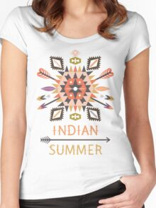 Vector colorful decorative element on native ethnic style Women's Fitted Scoop T-Shirt