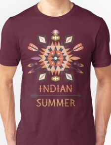 Vector colorful decorative element on native ethnic style T-Shirt
