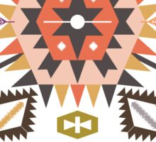 Vector colorful decorative element on native ethnic style Sticker