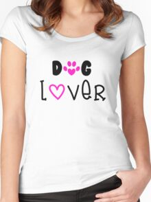 Dog Lover, Dogs Women's Fitted Scoop T-Shirt