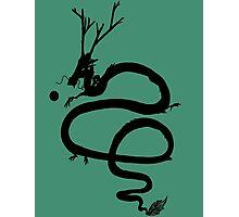 Ink Black Dragon [Transparent, Blank] Photographic Print
