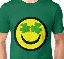 Smiley, Face, Shamrock Unisex T-Shirt
