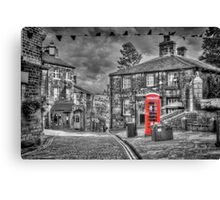 Haworth - Red Telephone Box Canvas Print