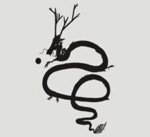 Ink Black Dragon [Transparent, Blank] by CiipherZer0