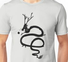 Ink Black Dragon [Transparent, Blank] Unisex T-Shirt