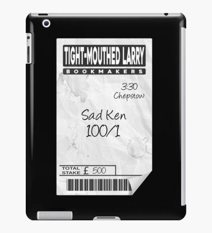'Sad Ken' Betting Slip Design iPad Case/Skin