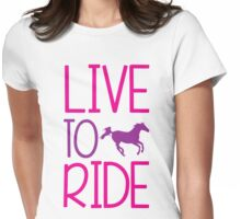 Horse, Horse Riding, Horses Womens Fitted T-Shirt