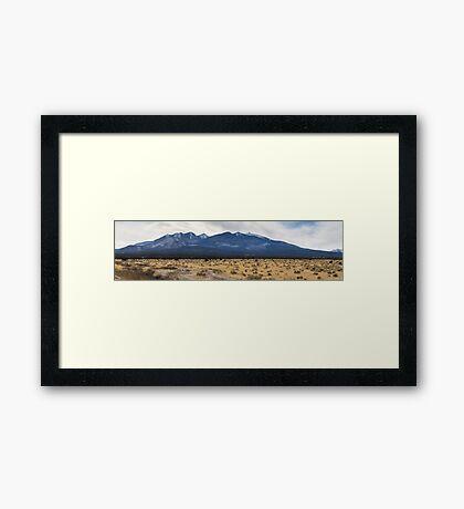 The Arizona desert mountains Framed Print