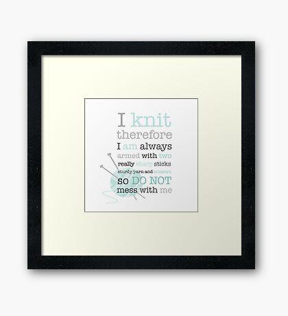 Knitters Dream Framed Print