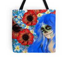 Hipster goth girl skull design by LeahG  Tote Bag