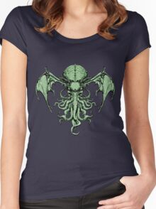 Cthulhu-Sumi (colour version) Women's Fitted Scoop T-Shirt
