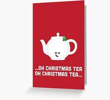 Christmas Character Building - Oh Christmas Tea Greeting Card