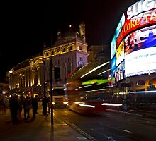 Late Night at Piccadilly Circus by Greg McMahon