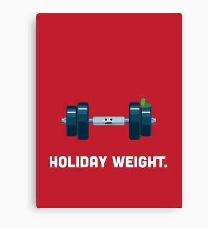 Christmas Character Building - Holiday Weight. Canvas Print