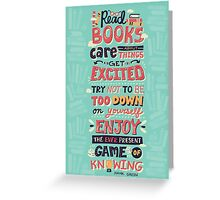 Read Books Greeting Card