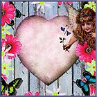 Pretty flower fairy vintage decoupage design by LeahG  by LeahG Artist